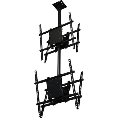 "Dual Screen Tilt Universal Ceiling Mount for 37"" - 65"" Screens Product Photo"