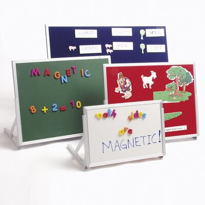 Best-Rite® Language Easel Magnetic Free Standing Chalkboard, 1' x 2'