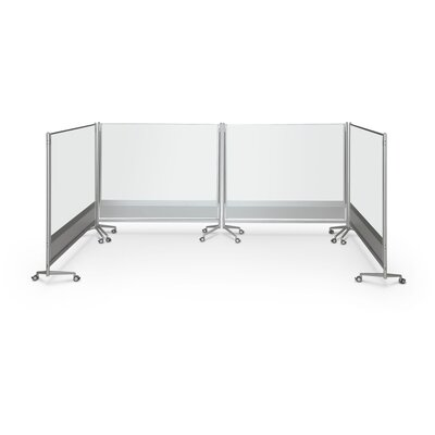 Best-Rite® D.O.C. Partition Mobile Free Standing Whiteboard,6' x 6'