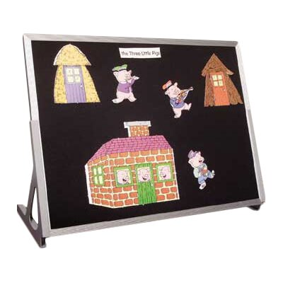 Best-Rite® Table Top Flannel Free Standing Bulletin Board