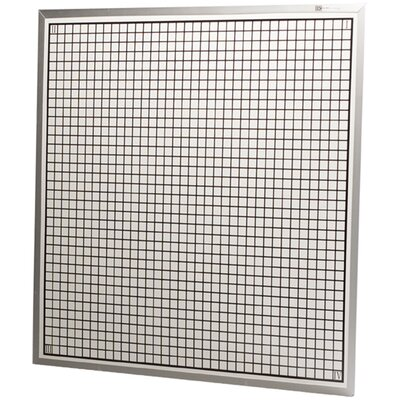 Best-Rite® Rectangular Coordinate Graphic/Grid Wall Mounted Whiteboard, 4' x 4'