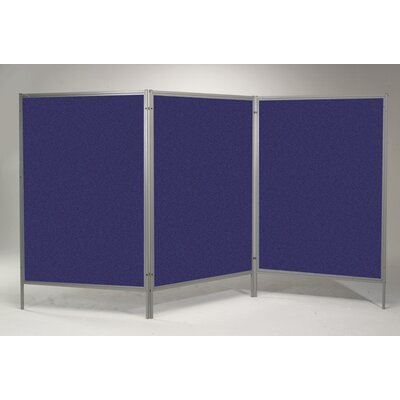 Best-Rite® Portable Art Display Royal Hook and Loop Panels and Dividers Mobile Free Standing Bulletin Board, 7' x 4'