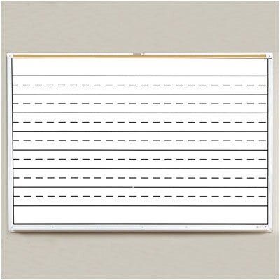Best-Rite® Lifetime Penmanship Line Graphic Wall Mounted Whiteboard