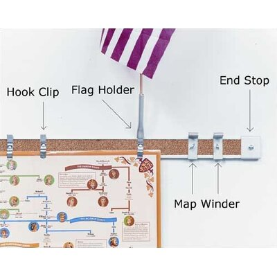 """Best-Rite® 2"""" Accessories for Map Rail"""