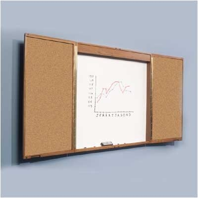 Best-Rite® Enclosed Magnetic Wall Mounted Whiteboard, 4' x 8'