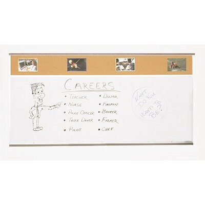 Best-Rite® Combo-Rite Porcelain/Cork Modular Type C Combination Magnetic Bulletin Board