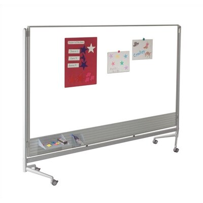 Best-Rite® D.O.C. Partition Dura-Rite Mobile Free Standing Whiteboard, 6' x 6'