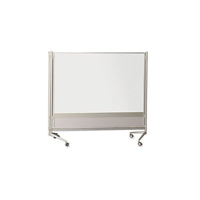 Best-Rite® D.O.C. Double Sided Mobile Free Standing Whiteboard, 6' x 6'