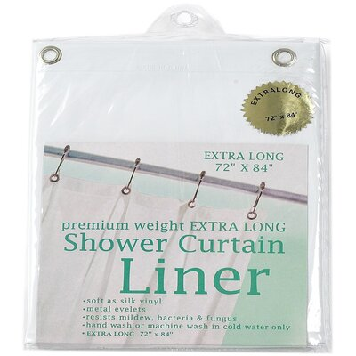 Vinyl Shower Curtain by Carnation Home Fashions
