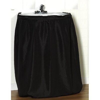 """Carnation Home Fashions """"Lauren"""" 100% Polyester Dobby Sink Drape with Adhesive Hanging Strip"""