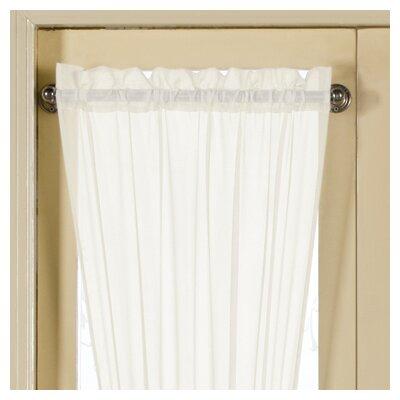 United Curtain Co. Monte Carlo Sidelight Rod Pocket Single Curtain Panel