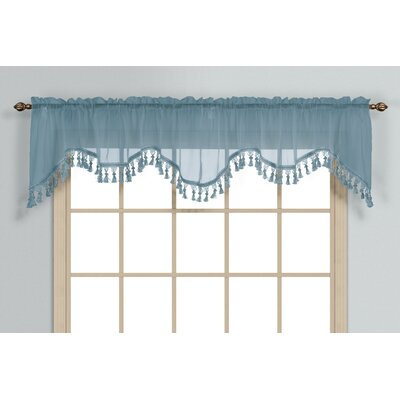 "Monte Carlo Rod Pocket Scalloped 59"" Curtain Valance Product Photo"