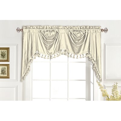 "Dupioni Silk Rod Pocket Swag 108"" Curtain Valance Product Photo"