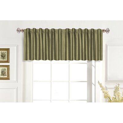 "Dupioni Rod Pocket Tailored 42"" Curtain Valance Product Photo"