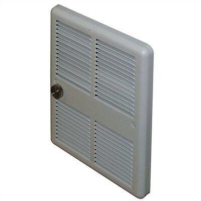 TPI Economical 2,000 Watt Wall Insert Electric Fan Heater with Back Cans and Double Pole Thermostat