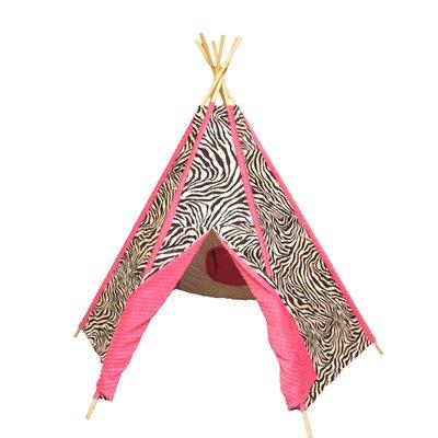 Ozark Mountain Kids Hot Pink Zebra TeePee