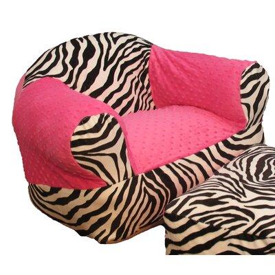 Hot Pink Zebra Kid's Club Chair by Ozark Mountain Kids