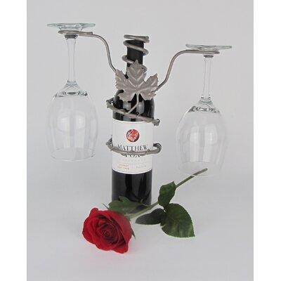 Metrotex Designs Grapevine Design 2 Stem Wine Rack