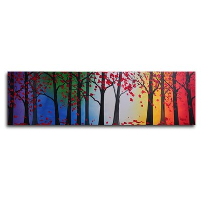 My Art Outlet Trees Hold Hands Original Painting on Wrapped Canvas