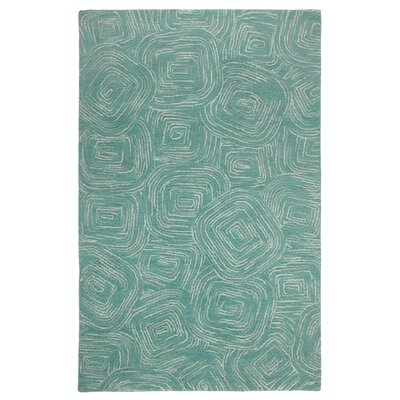 Paint The Town Lake Swirling Blue Area Rug by Company C
