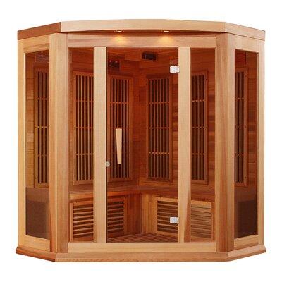 Maxxus 3 Person Corner Carbon FAR Infrared Sauna