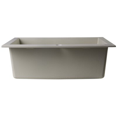 """23.63"""" x 20.88"""" Drop-In Single Bowl Kitchen Sink Product Photo"""