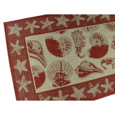 By the Sea Terracotta Indoor/Outdoor Novelty Rug by American Mills