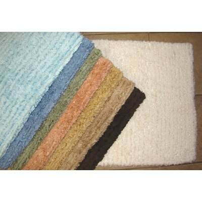 Solid Stripe Cotton Bath Mat by American Mills
