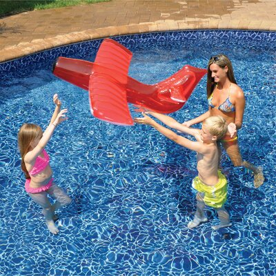 Red Airplane Glider Inflatable Pool Toy by Swimline