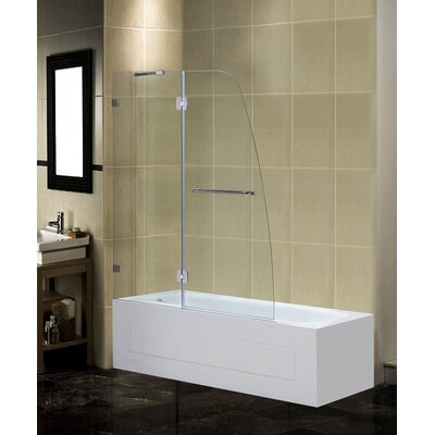 "48"" x 58"" Pivot Frameless Tub-Height Shower Door Product Photo"
