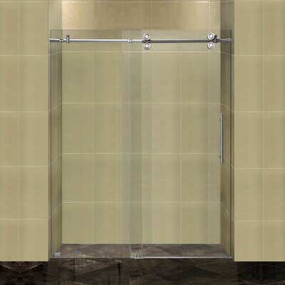 "Completely 75"" x 60"" Sliding Frameless Shower Door Product Photo"