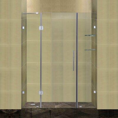 "Completely 75"" x 60"" Pivot Frameless Hinged Shower Door Product Photo"