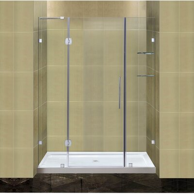 "Completely 77.5"" x 60"" Frameless Hinged Shower Door Product Photo"