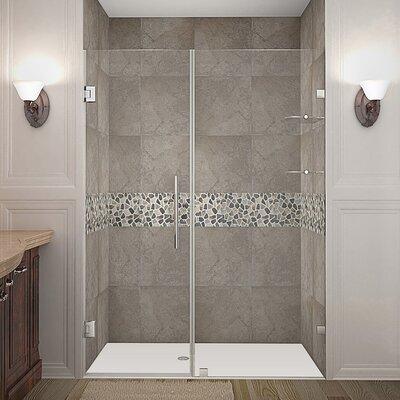 """Nautis GS 53"""" Frameless Hinged Swing Shower Door Product Photo"""