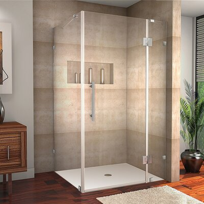 """Avalux 40"""" x 36"""" x 72"""" Completely Frameless Hinged Shower Enclosure Product Photo"""