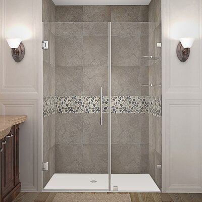 "Nautis GS 46"" Frameless Hinged Swing Shower Door Product Photo"