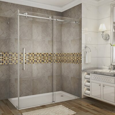 "60"" x 35"" x 77.5"" Sliding Shower Door Enclosure with Base Product Photo"