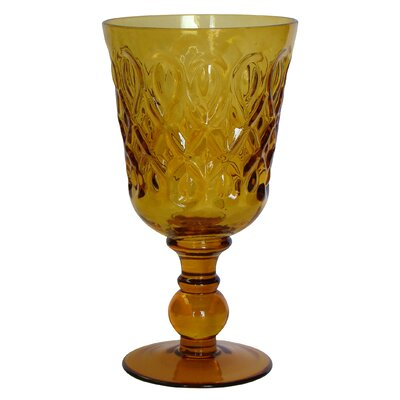 Teardrop Pressed Glass Goblet by R Squared