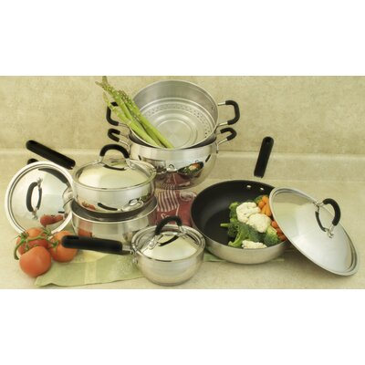 18/10 Stainless Steel 10-Piece Cookware Set by Cook Pro