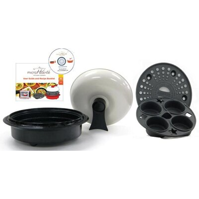 4-Piece 1.5 Qt. Microwave Cookware Everyday Pan Set by microHearth
