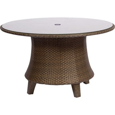 Del Cristo Round Umbrella Dining Table by Woodard