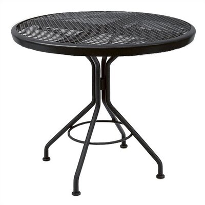 Mesh Top Contract Round Bistro Table by Woodard