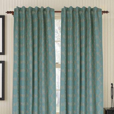 Gracious Living Zen Rod Linen / Cotton Blend Pocket Single Drape Panel