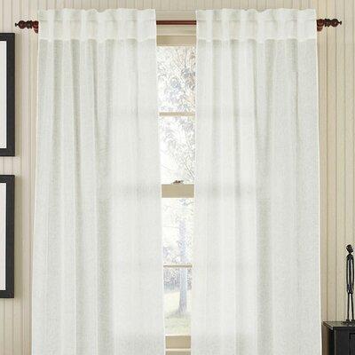 Gracious Living Linen Air Rod Pocket Single Drape Panel
