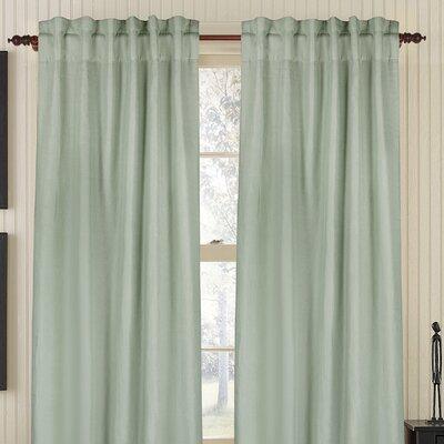 Gracious Living Plain Linen Rod Pocket Single Drape Panel