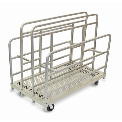 "Raymond Products 45.75"" x 30"" x 54"" Heavy Duty Cross Braced Panel and Sheet Mover Table Dolly"