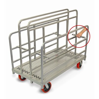 """Raymond Products 48.75"""" x 30"""" x 54"""" Heavy Duty Cross Braced Panel and Sheet Mover Table Dolly"""