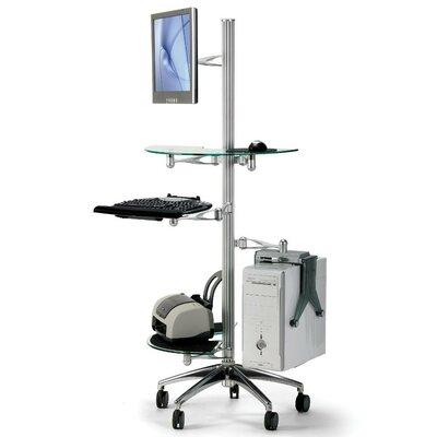 Cotytech Ergonomic Mobile Workstation Stand AV Cart