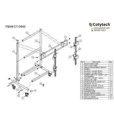 Cotytech Ergonomic Mobile TV Cart