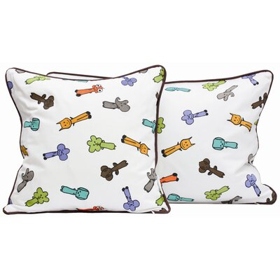 Meo and Friends Friends on Your Pillow Friends on Your Multi-print Cotton Throw Pillow